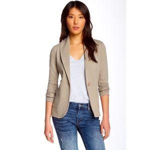 James Perse Shawl Collar Blazer Jacket Taupe Tan 3